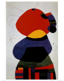 Frau mit drei Haaren Kunst von Joan Mir&#243;