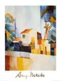 White House, Tunisia, c.1914 Plakater af Auguste Macke