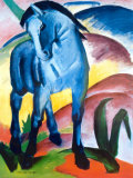 Caballo azul I Lmina por Franz Marc