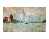 Regatta at Argenteuil Art by Claude Monet