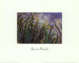 Iris Jaune et Mauves, 1924-25 Posters by Claude Monet