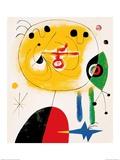 Et Fixe Les Cheveux d'une Etoile Plakater af Joan Miró