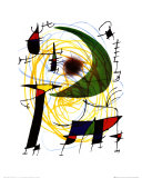 Lune Verte Plakaty autor Joan Miró