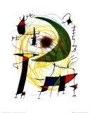 Vihreä kuu Julisteet tekijänä Joan Miró
