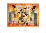 Wandbild aus dem Tempel der Sehnsucht Dorthin Posters by Paul Klee