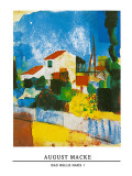 Das Helle Haus I Posters by Auguste Macke