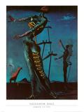 Die Brennende Giraffe, 1935 Poster von Salvador Dalí