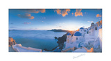 Mykonos Sunset Art by Georges Meis