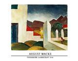 Tunisian Landscape, 1914 Posters af Auguste Macke