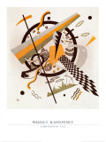 Komposition mit Schachbrettstreifen, 1922 Prints by Wassily Kandinsky