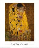 Gustav Klimt - Polibek, c.1907 Plakát