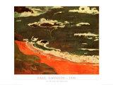 Plage du Pouldu Posters by Paul Gauguin