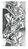 Maison d'escaliers Affiches par M. C. Escher
