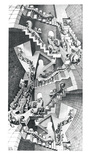 Casa de escaleras Lámina por M. C. Escher