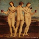 Tre Grazie Prints by  Raphael