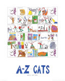 A-Z of Cats Art Print
