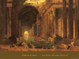 Thermae Posters by Hubert Robert
