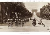 1975-touren, målstreken på Champs Elysees Posters