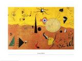Katalanische Landschaft Plakat af Joan Miró
