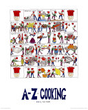 A-Z of Cooking Posters by Nicola Streeten