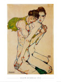 Freundschaft, 1912 Kunstdruck von Egon Schiele
