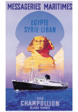 Messageries Maritime, Egypte-Syrie-Liban Prints by Guena