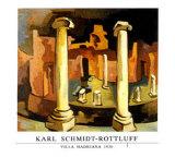 Villa Hadriana, 1930 Poster by Karl Schmidt-Rottluff