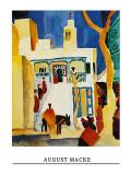 Blick Auf Eine Moschee Posters by Auguste Macke