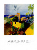 Landschaft am Meer, 1914 Print by Auguste Macke