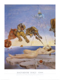 Dream Caused by the Flight of a Bee around a Pomegranate, c. 1944 Poster by Salvador Dalí