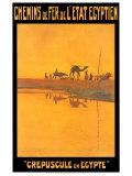Crepuscule En Egypte Posters af M. Tamplough