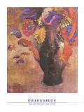 Fleurs dans Un Vase Noir Prints by Odilon Redon