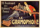 Le gramophone Affiche par Charles Bombled