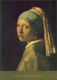 Girl with Pearl Earrings Art by Jan Vermeer