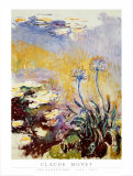 Agapanthes Print by Claude Monet