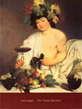 Bacchus, c.1597 Prints by Caravaggio 
