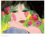Girl's Face Print van Walasse Ting