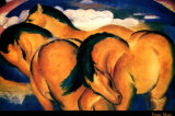 Little Yellow Horses, 1912 Art by Franz Marc