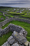 Ancient Stone Walls Pattern the Landscape on the Island of Inisheer Photographic Print by Jim Ricardson