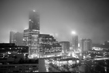 Cityscape of Buckhead, Atlanta in a Heavy Fog at Night Photographic Print by Stephen Alvarez