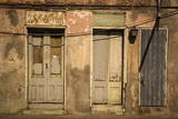 Faded Peeling Paint on Doors in An Old Wall in the French Quarter Photographic Print by Eduardo Rubiano