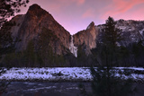 Bridalveil Falls and the Merced River in Winter Photographic Print by Raul Touzon