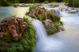 Havasu Creek Rushes Over Falls in Havasu Canyon Photographic Print by Derek Von Briesen