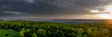 Dawn Breaks with Heavy Clouds Over Forested Roarks Cove Photographic Print by Stephen Alvarez