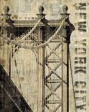 Vintage NY Manhattan Bridge Posters par Michael Mullan
