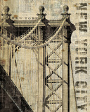 Vintage NY Manhattan Bridge Posters by Michael Mullan