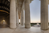 Panorama of the Lincoln Memorial, Showing the Washington Monument Photographic Print by Sam Kittner