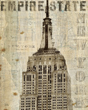 Vintage NY Empire State Building Poster von Michael Mullan