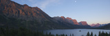 A Panoramic View of the Mountains Above Wild Goose Island Photographic Print by Barrett Hedges