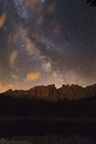 the Milky Way and Venus Over Latemar Mountain, and Reflections in a Lake Photographic Print by Babak Tafreshi